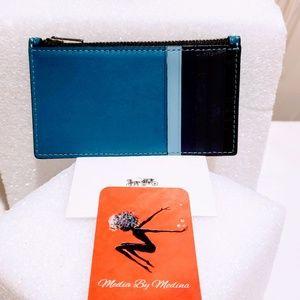 Coach Bags - Coach Men's card/coin case Atlantic Blue🆕🦅